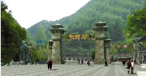 河南栾川倒回沟景区入口大门设计_旅游规划_旅游策划